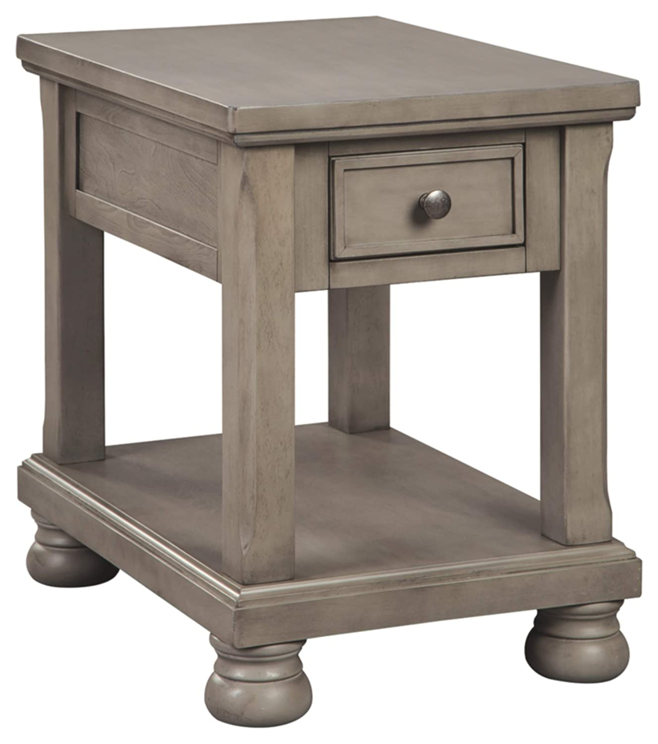 Signature Design by Ashley T733-3 Lettner Rectangular End Table, Gray