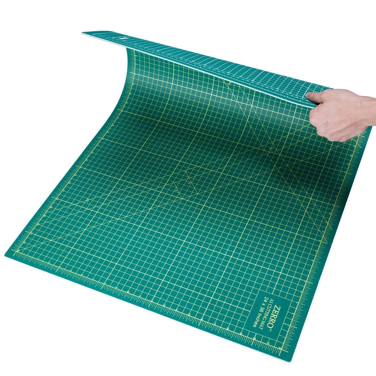 """ZERRO Self Healing Cutting Mat 24"""" x 36"""",Professional Double Sided Durable Non-Slip Rotary Mat for Scrapbooking, Quilting, Sewing-3mm Thick (A1)"""