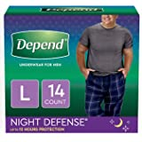 Depends Mens Overnight Underwear Large