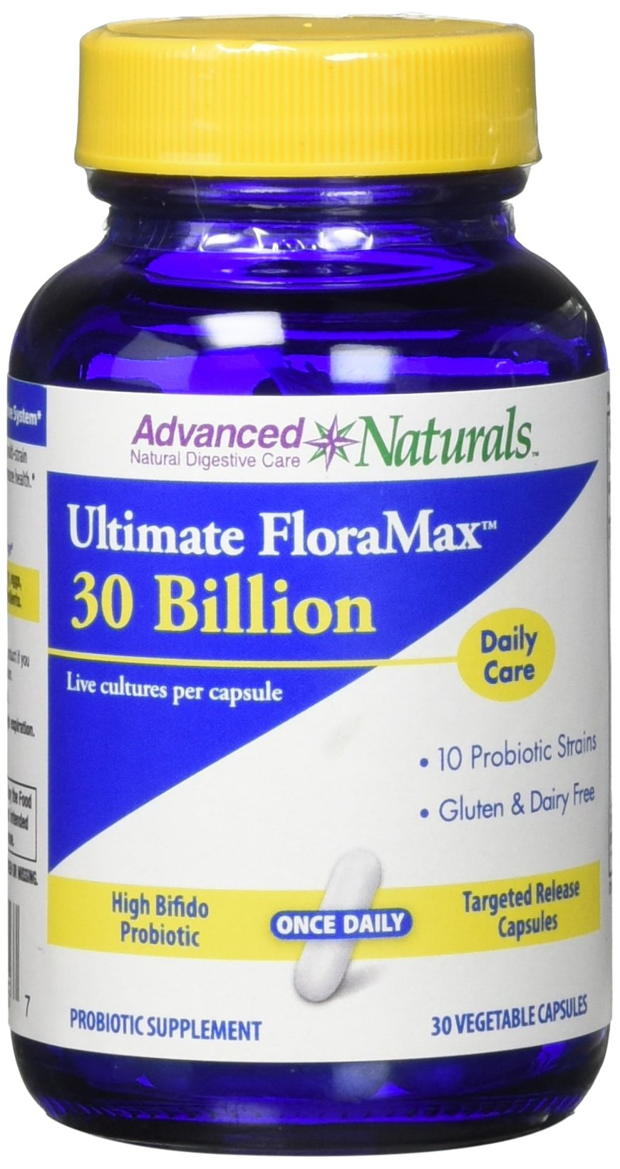 Advanced Naturals Ultimate Floramax 30 Billion Caps, 30 Count