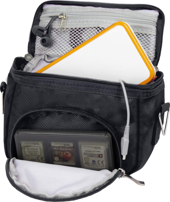 G-HUB Travel bag with Shoulder Strap, Carry Handle, Belt Loop for Nintendo DS Consoles DS / 3DS / DS Lite / 3DS XL / DSi - Black: Electronics