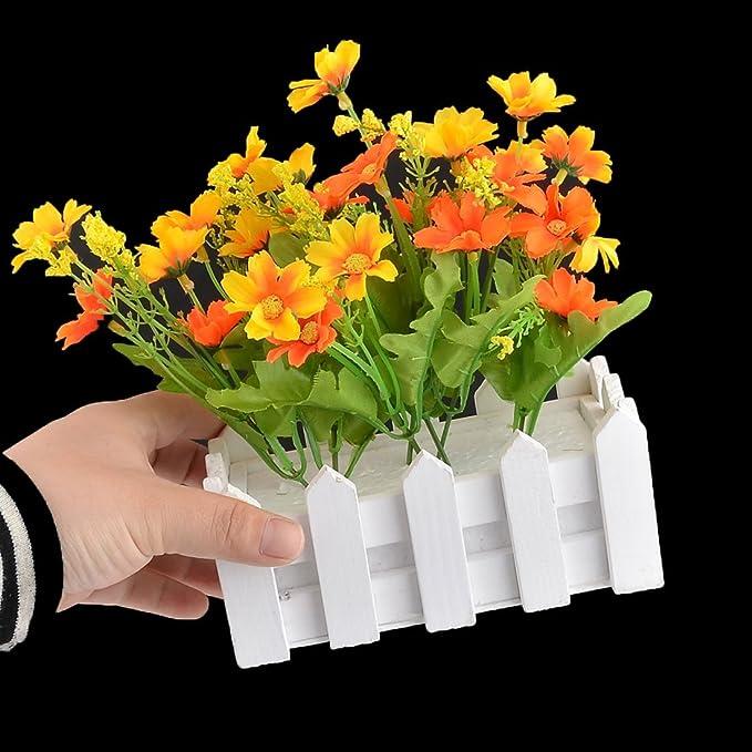 Amazon.com: eDealMax Tela hogar de DIY Tabla de escritorio decorativo de Emulational Flor de la Margarita Artificial: Home & Kitchen