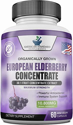 Elderberry 10800mg, Immune Support for Adults, Sambucol Black Elderberry for Immunity Support, Better than Elderberry Gummies, Elderberry Syrup