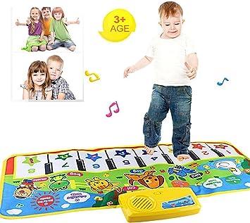 Nuevo tacto del teclado del juego Música musical que canta la estera de la alfombra del gimnasio El mejor regalo del bebé de los cabritos