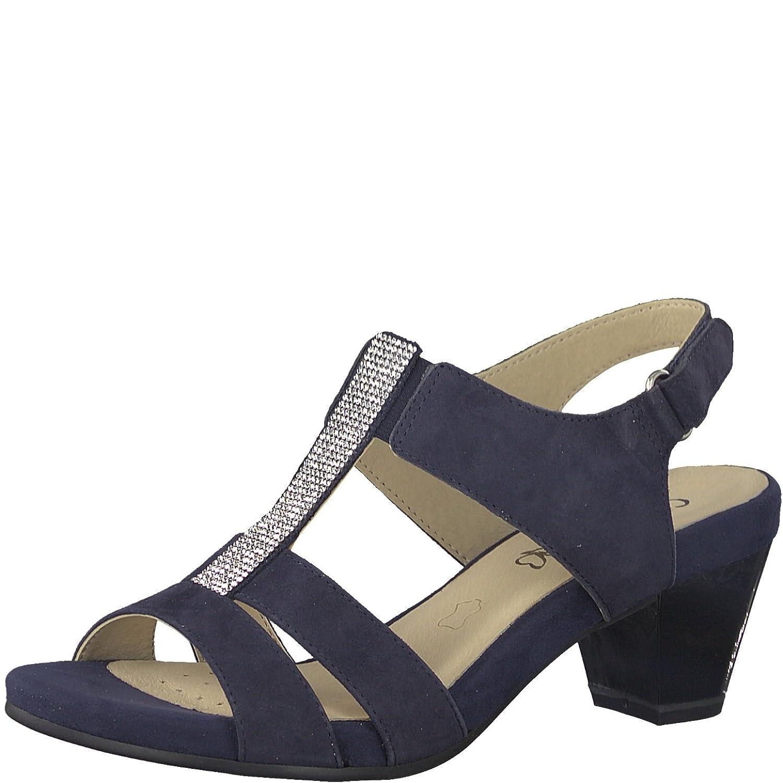 Caprice Damen Sandalette 37 Ozean Blau Leder von Größe 37 Sandalette bis 40 Blau 0dbe55