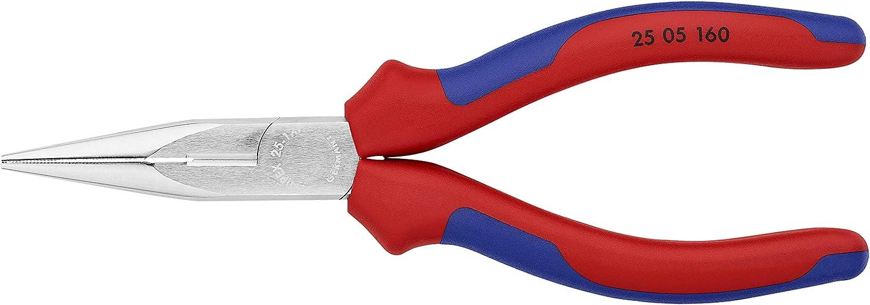 KNIPEX 25 05 160 Alicate de montaje (alicate de radio) cromado con fundas en dos componentes 160 mm: Amazon.es: Bricolaje y herramientas