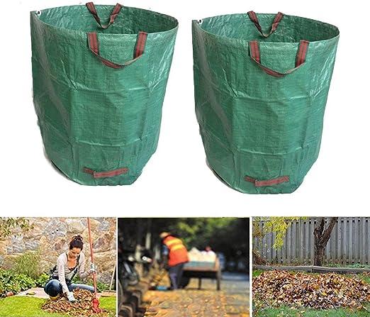 Yosoo 2pcs 270 Litros Bolsa de Residuos de Jardín, Sacos de Basura, Malas Hierbas, Hojas, Latas de Jardín: Amazon.es: Jardín