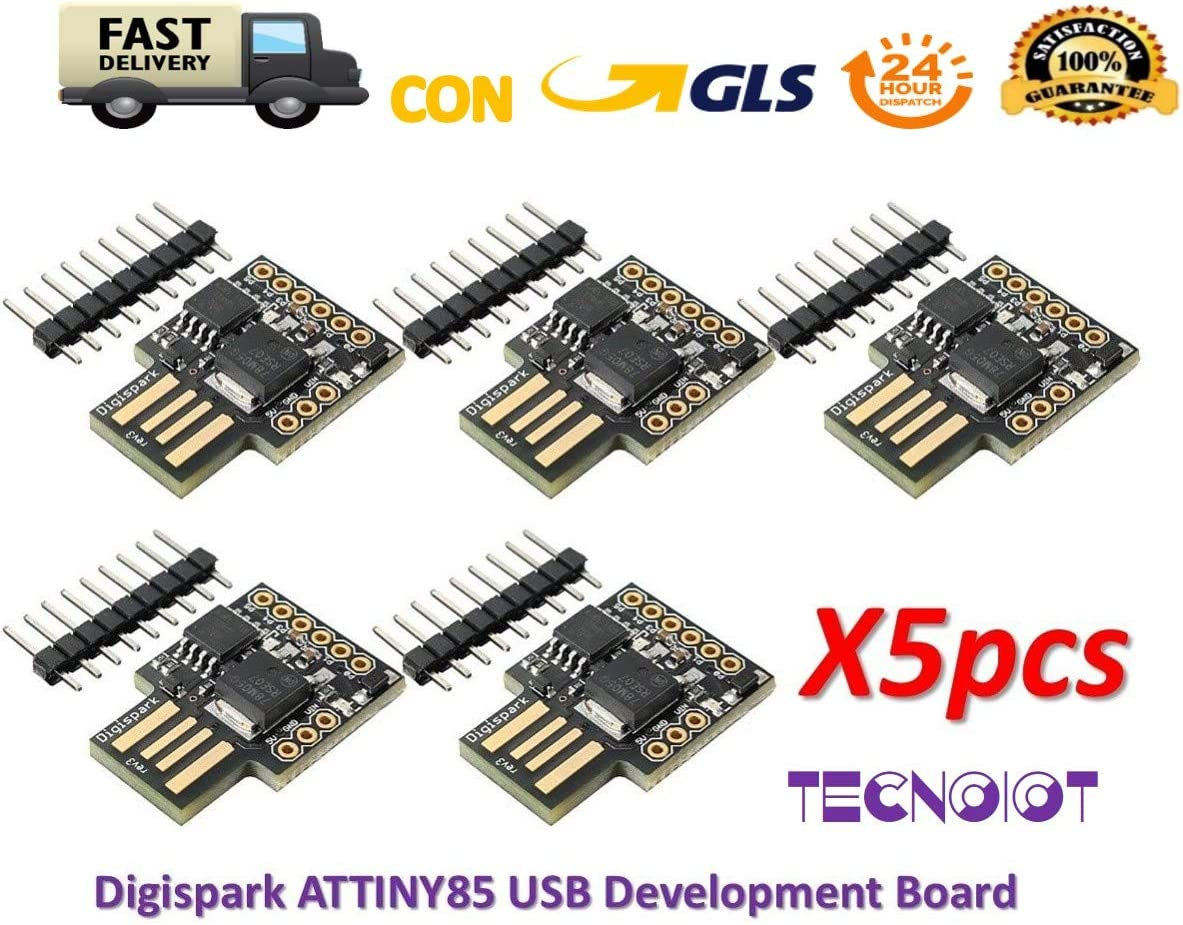 TECNOIOT 5pcs Digispark ATTINY85 General Micro USB Development Board