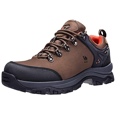 CAMEL CROWN Hiking Shoes Men Trekking Shoe Low Top Outdoor Walking Waterproof Leather Trail Sneakers | Hiking Shoes