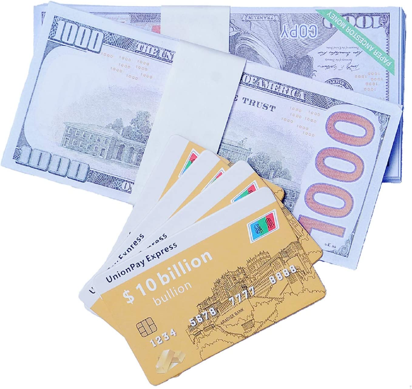 Ancestor Money Credit Card 130 Pieces Joss Paper Strengthens Connection with Your Ancestor and Brings Good Fortune