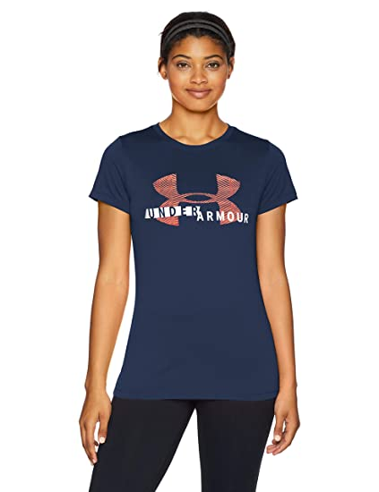 Under Armour Tech SSC Graphic Camiseta, Mujer, Naranja (After Burn ...