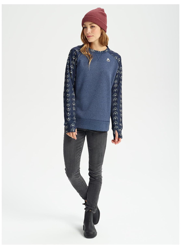 Brownie//Floral Camo Large Burton Womens Oak Crew Sweatshirt