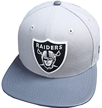 new style cbcd4 c8317 Image Unavailable. Image not available for. Color  New Era Oakland Raiders  NFL Grey Storm 9fifty 950 Snapback Cap Original Fit OSFA Basecap Limited