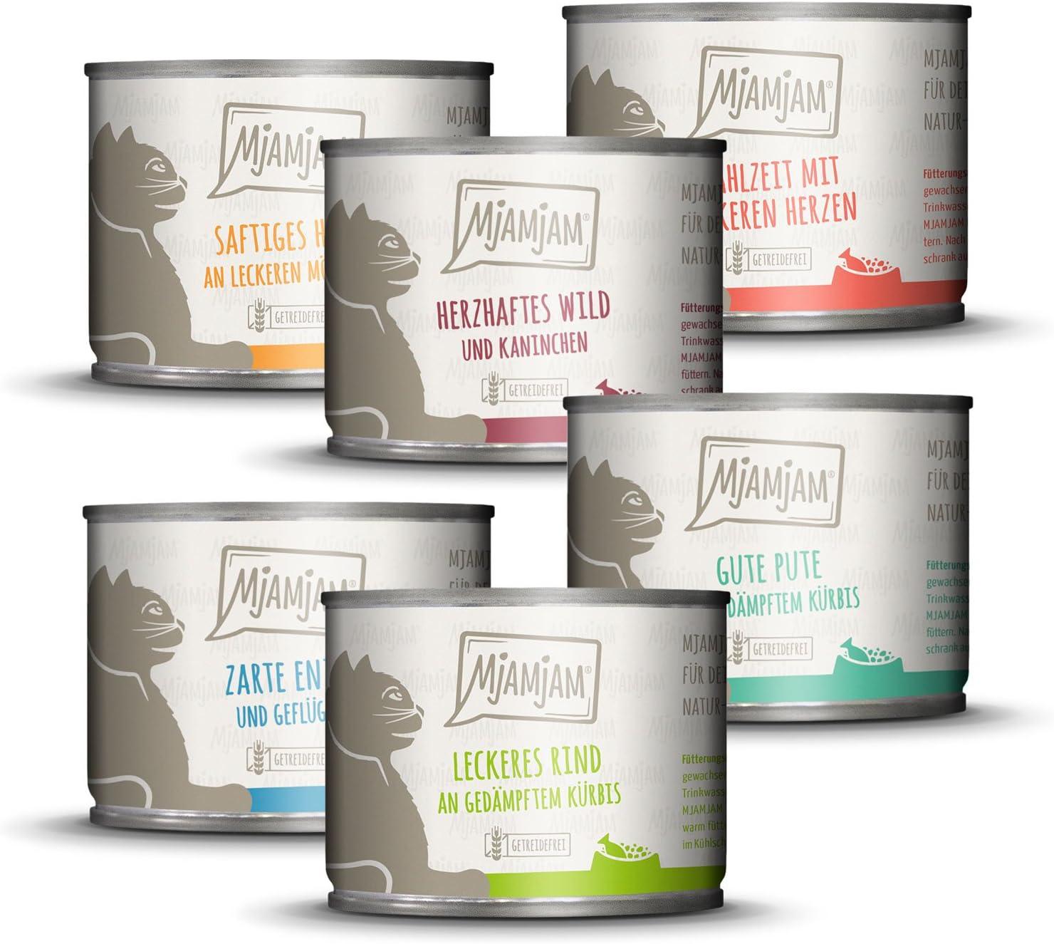 1,2kg de comida para gatos MjAMjAM en 6 latas variadas por sólo 8,31€ ¡¡17% de descuento!!