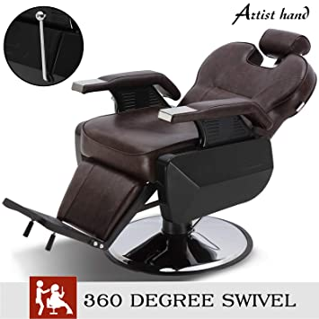 Stupendous Artist Hand Barber Chair Hydraulic Recline Barber Chairs Salon Chair For Hair Stylist Tattoo Chair Heavy Duty Barber Salon Equipment Brown Gmtry Best Dining Table And Chair Ideas Images Gmtryco