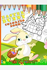 Easter Bunny Coloring Book: Activity Workbook for Kids Ages 4 to 8 Paperback