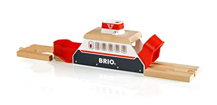 BRIO World - 33569 Ferry Ship   3 Piece Toy Train Accessory for Kids Ages 3  and Up