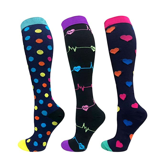 9cbdbc6ea4d Amazon.com  Compression Socks For Men   Women - 1 3 6 Pairs - Best ...