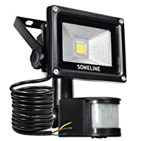 Security Light with Motion Sensor 10W Outdoor Led Floodlight with Pir Outside SOMELINE Floodlights with Sensor