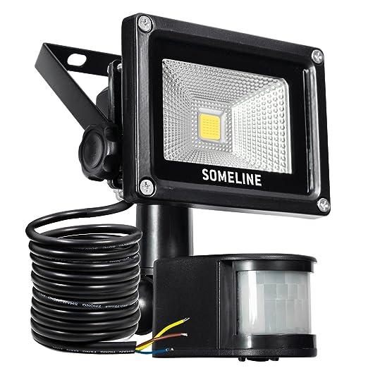 10W LED Strahler mit Bewegungsmelder LED Fluter wasserdicht Außenstrahler Flutlichtstrahler Aluminium Scheinwerfer SOMELINE s