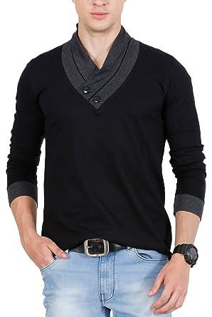 Fashion Freak Full Sleeve T Shirt For Men Stylish V-Neck Cotton ...