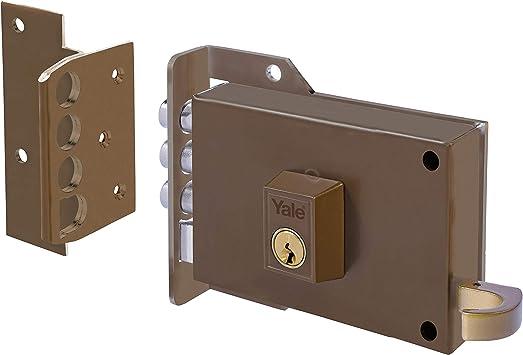 Yale 70IHP Cerradura de Sobreponer, 7-0. A Mano Izquierda Entrada 60 mm / Izda Hierro Pintado: Amazon.es: Bricolaje y herramientas