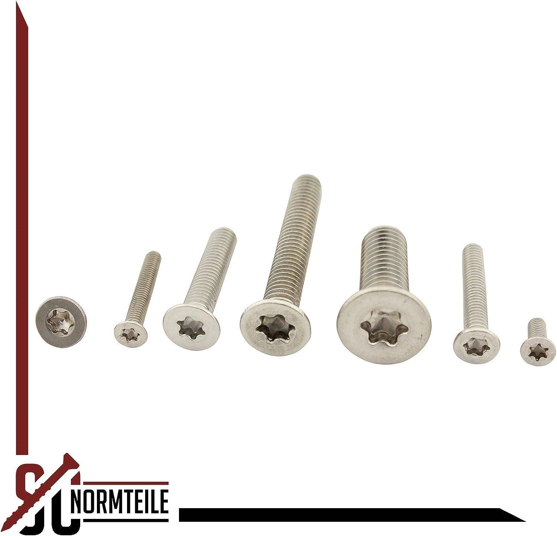 | DIN 965 TX // ISO 14581 SC-Normteile Senkschrauben mit Innensechsrund 20 St/ück TX Vollgewinde |aus rostfreiem Edelstahl A2 V2A SC965TX | M3x12 |