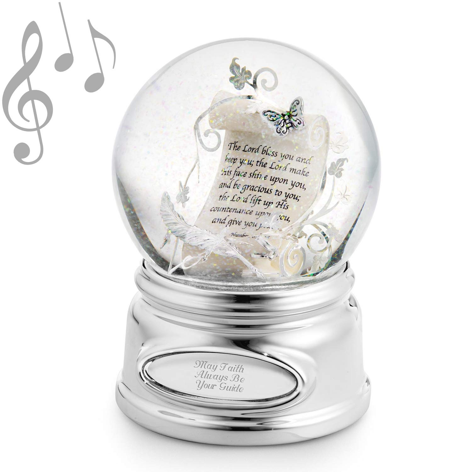 Things Remembered Personalized Inspirational Scroll Musical Snow Globe with Engraving Included by Things Remembered