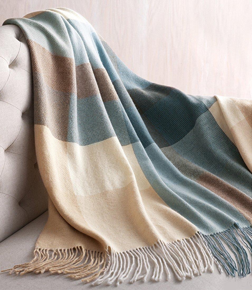Lorenzo Cana Luxus Alpakadecke 100% Alpaka Fair Trade Decke Wohndecke handgewebt Sofadecke Tagesdecke Kuscheldecke Umhang 9603077