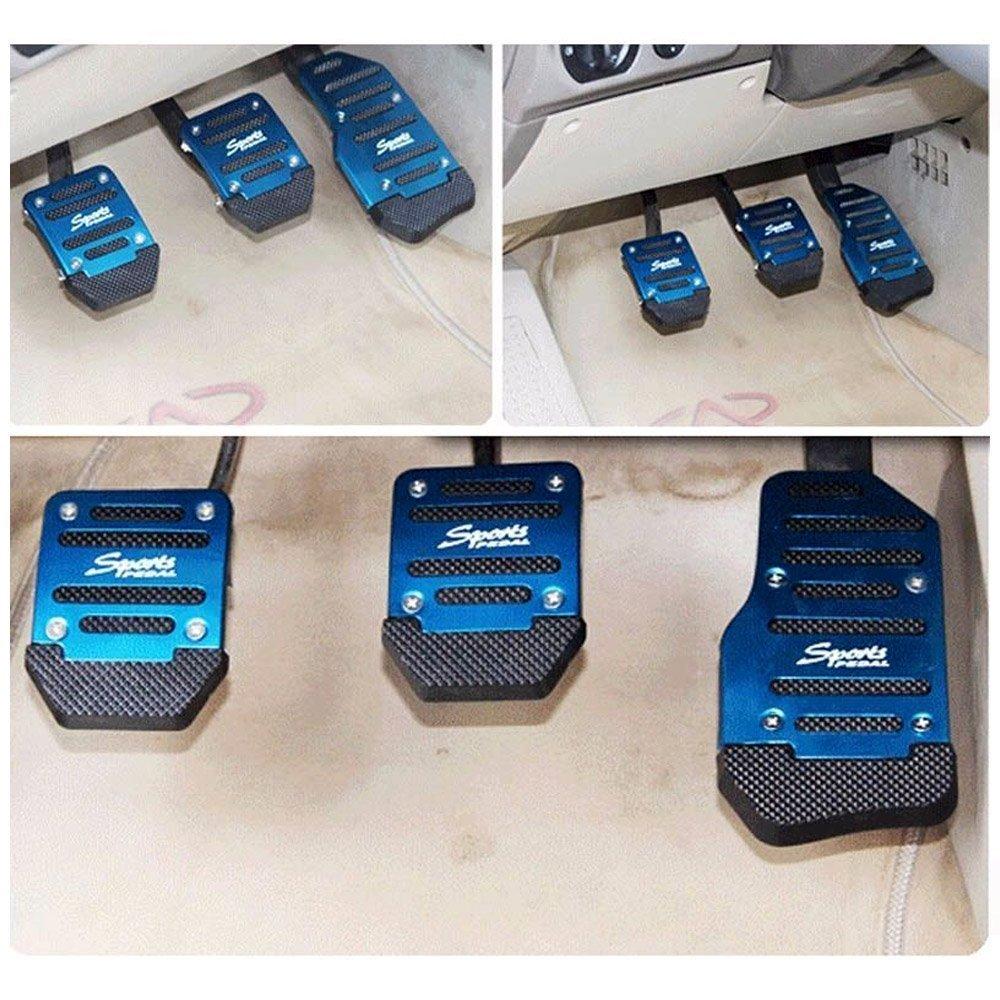 Red-Manual AUTOPDR Car Brake Foot Pedal Covers Gas Pedals Pads Covers Foot Brake Extenders Cover Pad Automotive Kick Panels for Manual Car Auto Vehicle Motorcycle Aluminium
