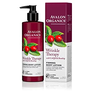 Avalon Organics Wrinkle Therapy Ultimate Firming Body Lotion, 8-Ounce Bottle
