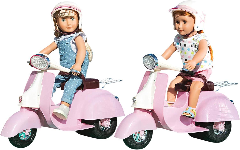 NUOVO our generation OG-JEEP AUTO ROSA//BIANCO GIOCO BAMBOLE /& Accessori 719