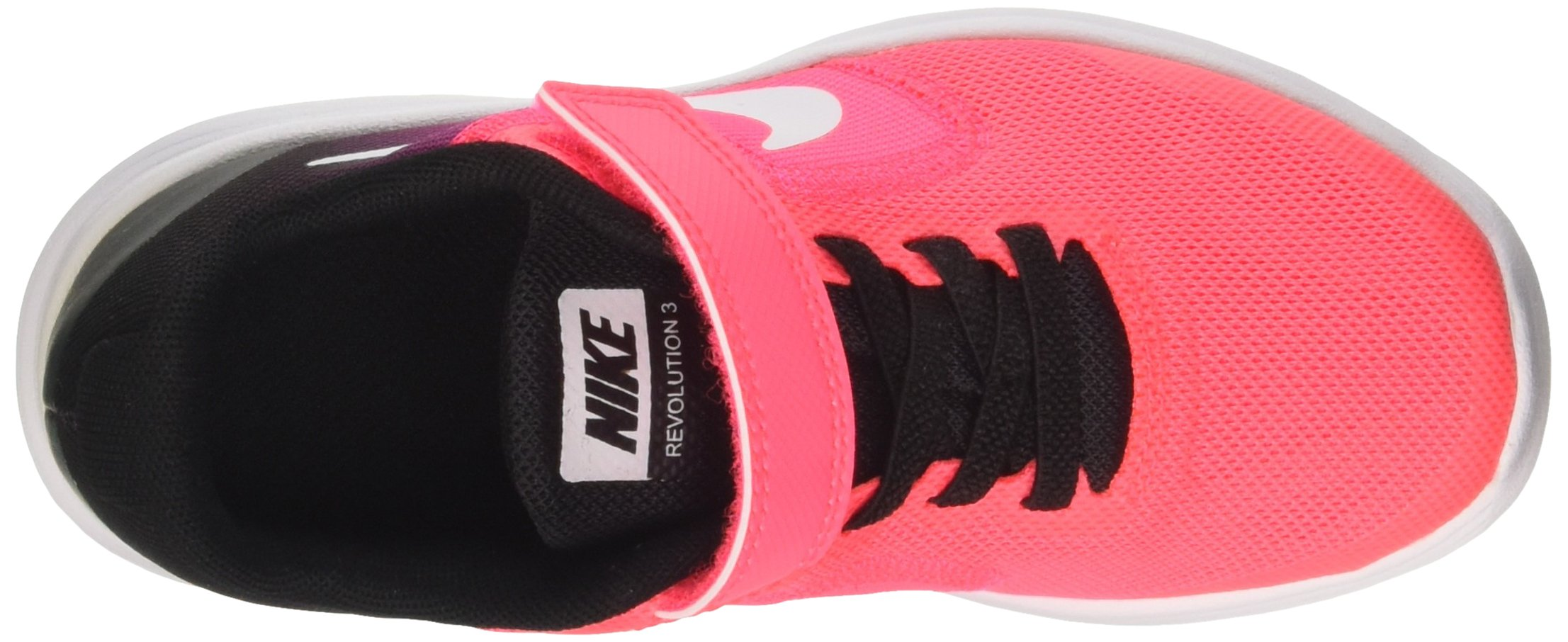 NIKE Kids' Revolution 3 (Psv) Running-Shoes, Black/White/Racer Pink/Black, 1 M US Little Kid by Nike (Image #7)