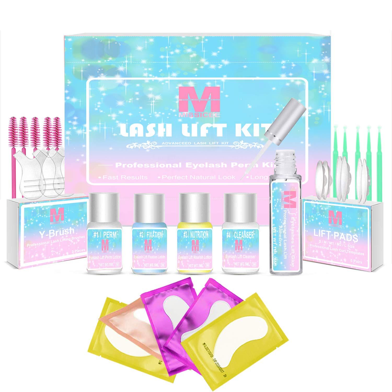 Lash Lift Kit, Missicee Eyelash Perm Kit Professional Eyelash Lash Extensions, Lash Curling, Semi-Permanent Curling Perming Wave, Long-lasting, Easy to Use, Suitable For Salon