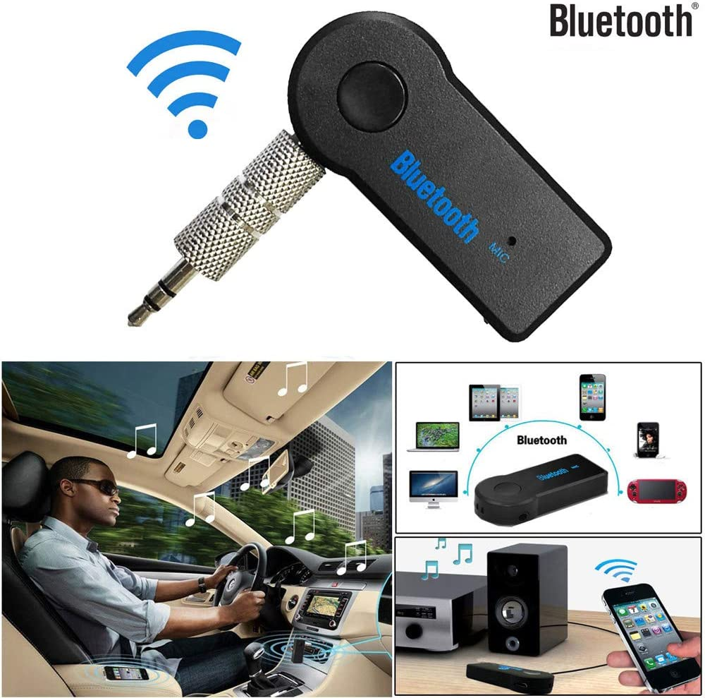 Wireless USB Bluetooth 3.5mm NEW Car Audio Bluetooth Adapter Kit with MIC