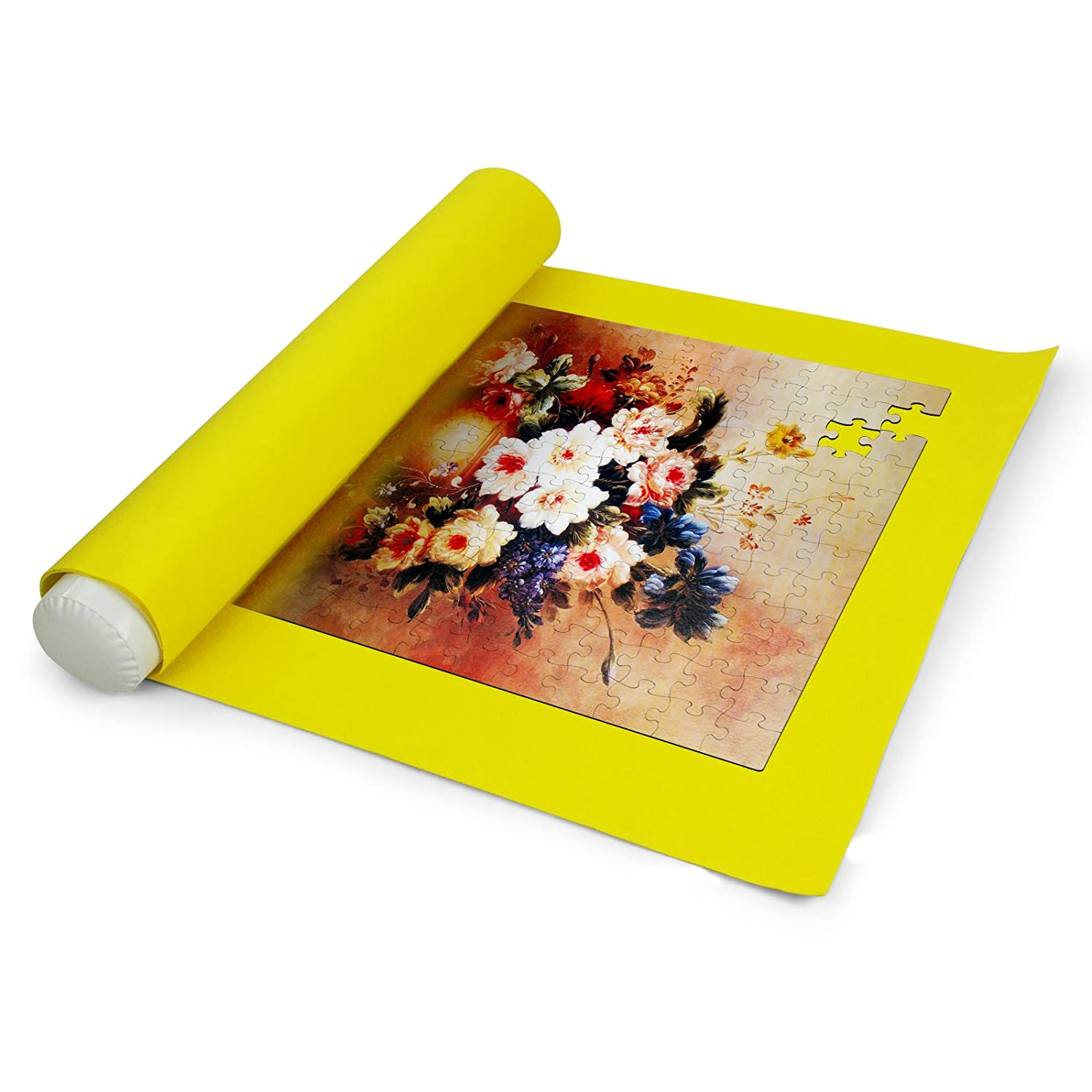 Sinoguo Yellow Felt Mat for Puzzle Storage Puzzles Saver No Folded Creases Environmentally Friendly Materials a Good Puzzle Accessories for Jigsaw Puzzle Player M Yellow