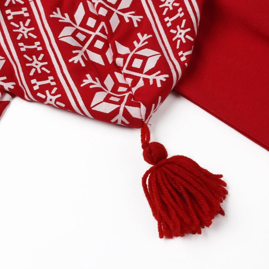 Honestyi Neugeborenes Baby Girls Boy Weihnachten Fransen Hoodies Druckanzug Overall Pyjamas Outfits Weihnachten Babykleidung Rot, 6M//70CM