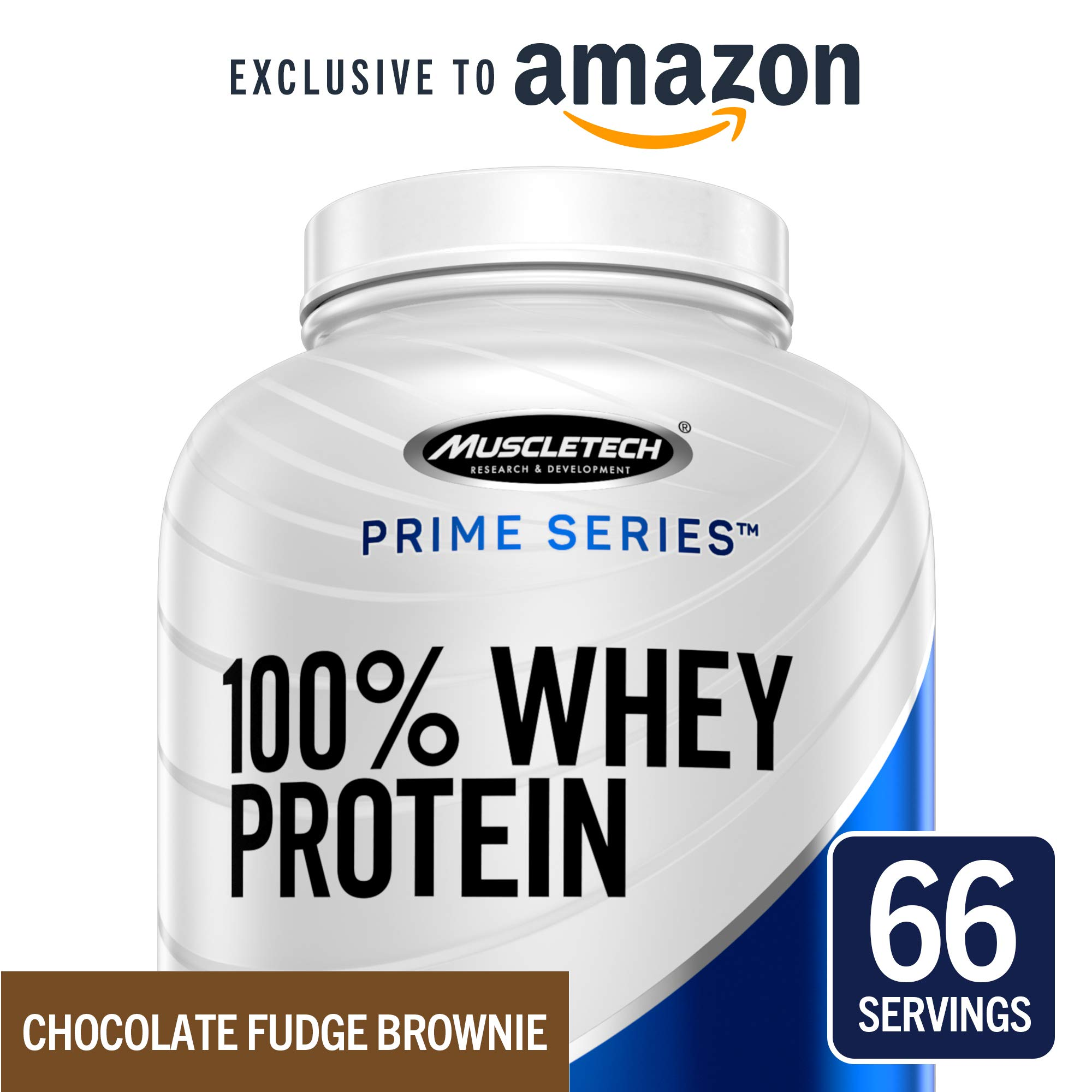 MuscleTech Prime Series 100% Whey Protein Powder, 25g Premium Protein, Research Proven Whey & Peptides for Faster Absorption, Chocolate, 66 Servings (5.0lbs) - Amazon Exclusive