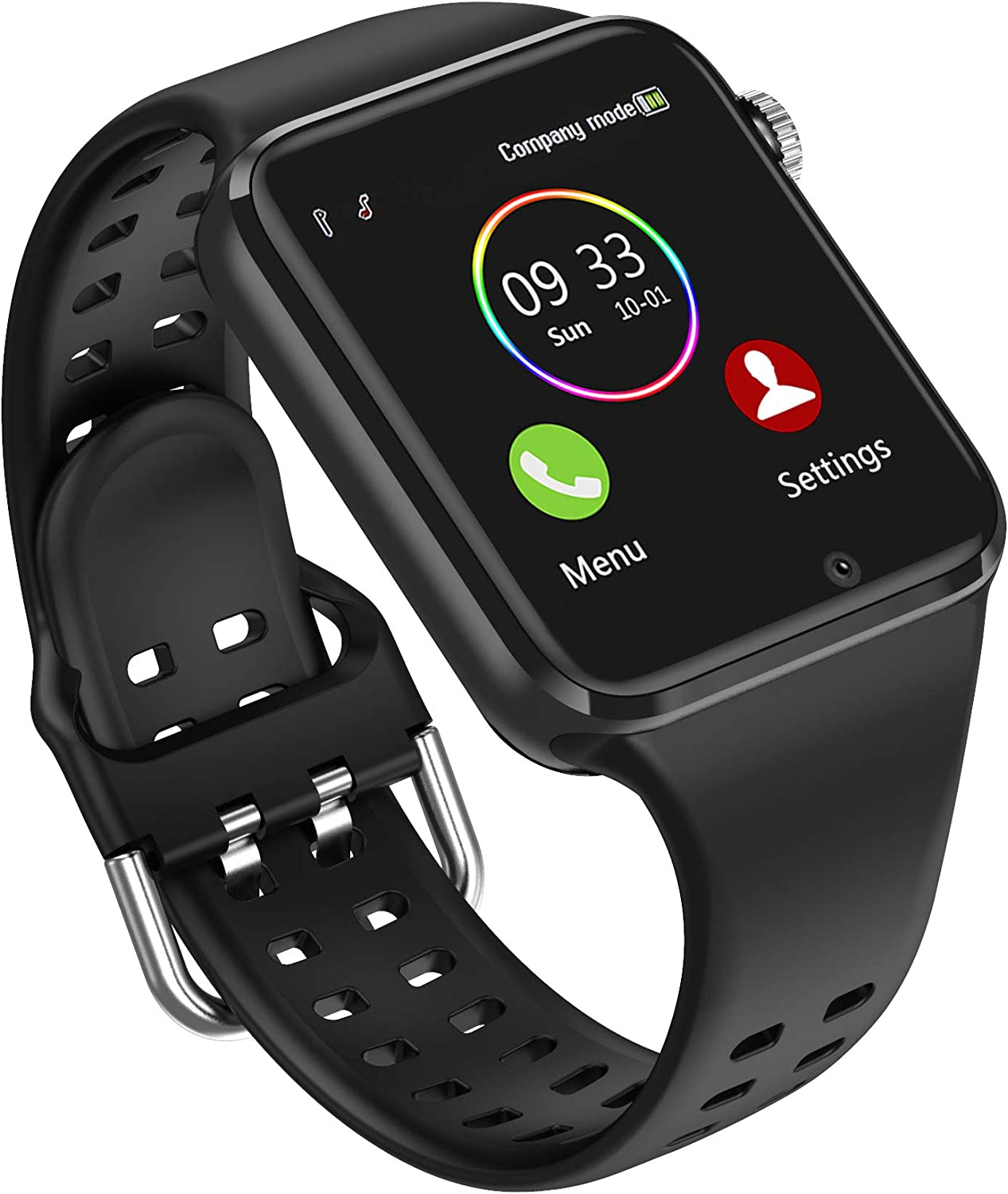 Smart Watch - 321OU Smartwatch for Android iPhone Compatible Samsung LG, Bluetooth Smartwatches Fitness Watch for Men Women Kids with SIM SD Card Slot Camera Pedometer Support Call SMS (Black)