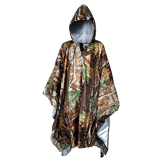 1 opinioni per Vegbirt Poncho Raincoat, Camouflage Pioggia multifunzionale Giacca piovana