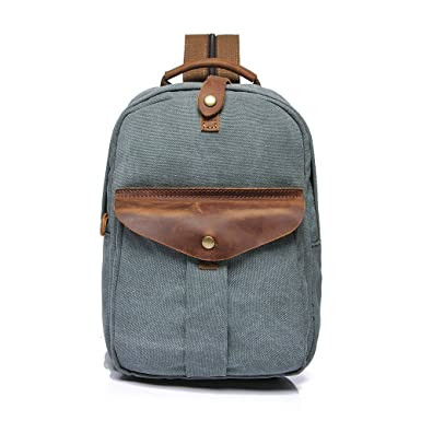 Men s Backpack Vintage Canvas Lightweight Travel Backpack Casual Bag 905353c56fe57