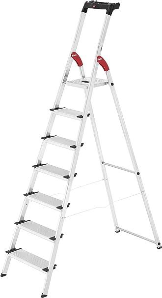 belastbar bis 150 kg made in Germany Hailo L80 ComfortLine Alu-Sicherheits-Stehleiter 5 XXL-Stufen 8040-507