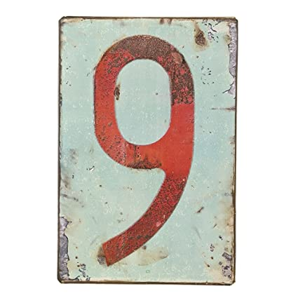 Gare Tinplate Large License Plate Design Number Signs (9)