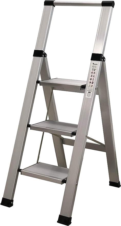Escalera 3 peldaños aluminio