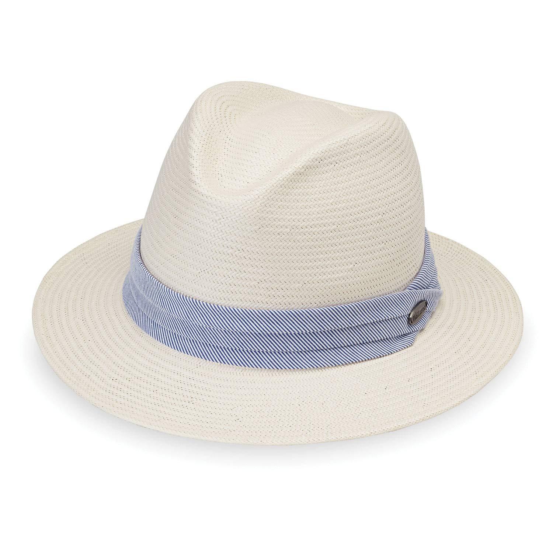 Wallaroo Hat Company Women's Monterey Fedora - Natural - Elegant Fedora, Modern Style
