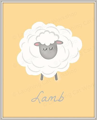 Amazon.com: Cute baby print, Cute sheep print, cute sheep nursery ...