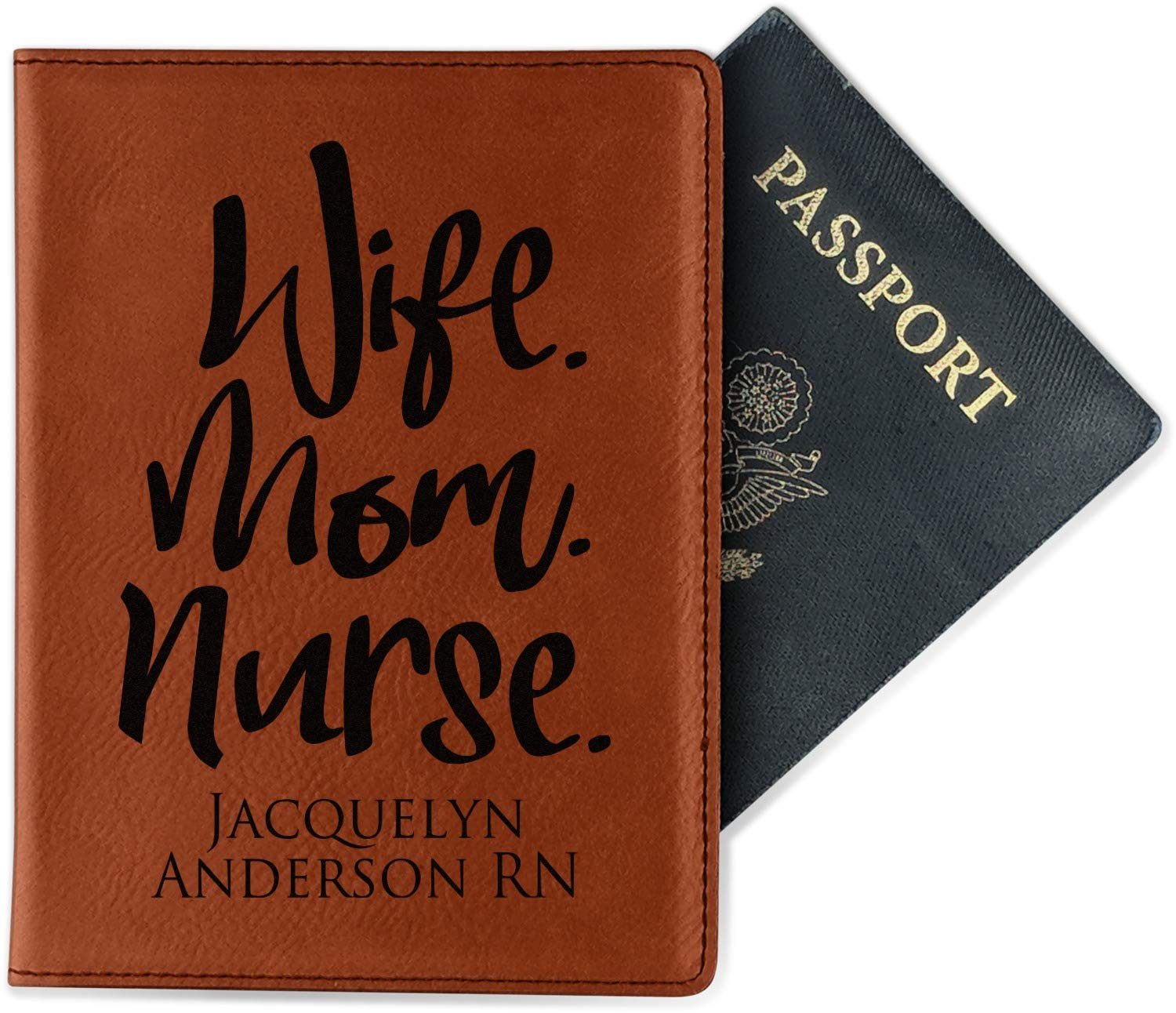 Nursing Quotes Leatherette Passport Holder Single Sided Personalized