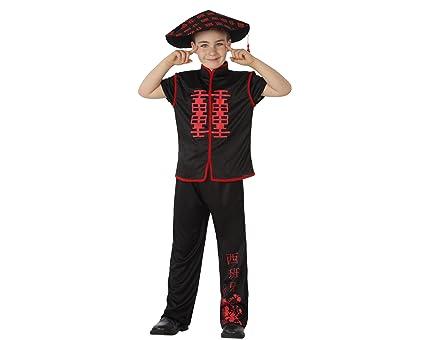 Atosa Disfraz de Chino Negro para niños: Amazon.es: Juguetes ...