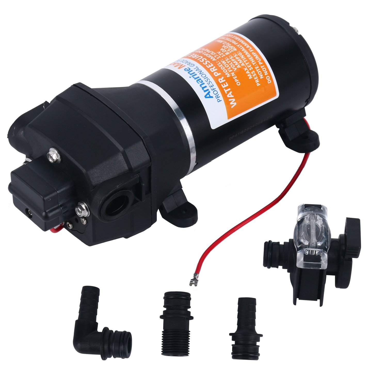 Amarine Made 12v Water Pressure Pump 17 L/m 4.5gpm 40psi Motor Home/Caravan/Boat by Amarine Made