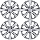 "BDK Toyota Corolla Style Hubcaps 16"" Wheel Covers - 2014 Model Replica Cover, Silver, 4 Pieces"